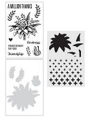 Wendy Vecchi Stamp, Die & Stencil Set - A Million Thanks - WVZ65951